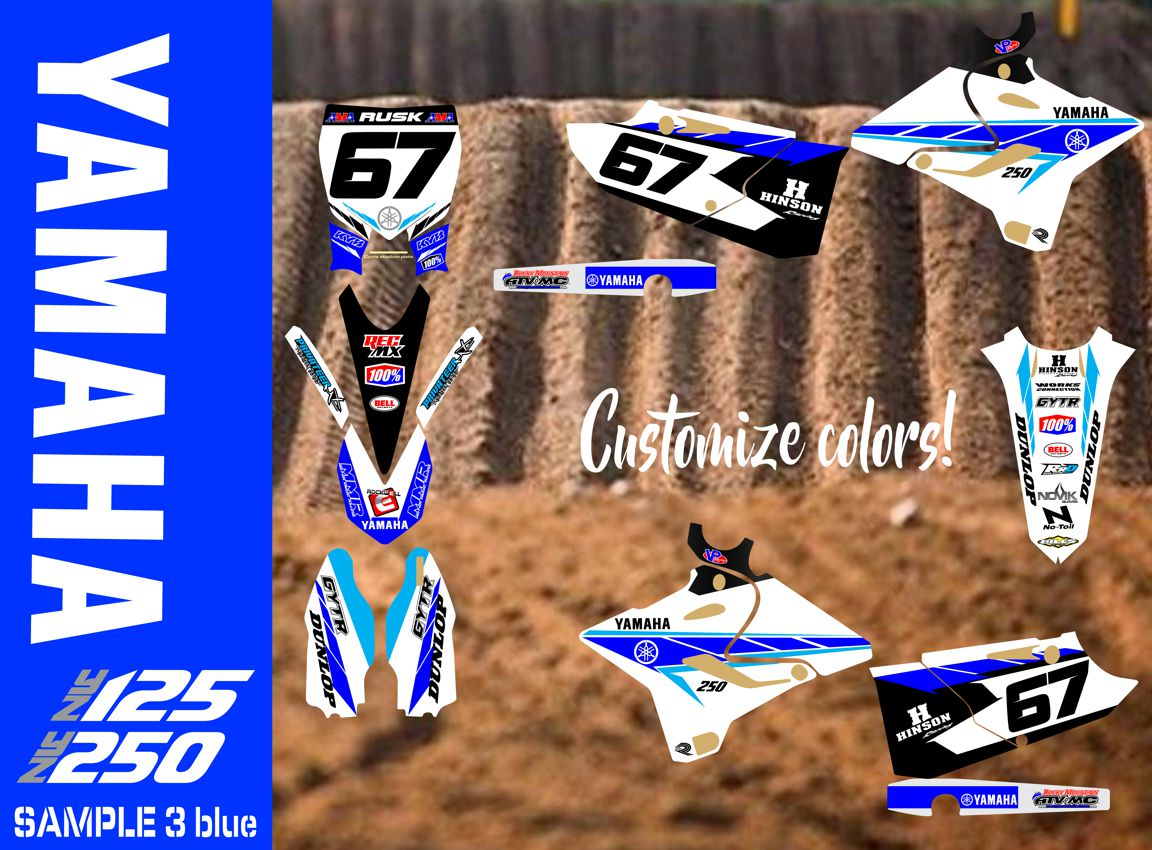 Rusk Racing Custom Motocross Graphics and decals thick