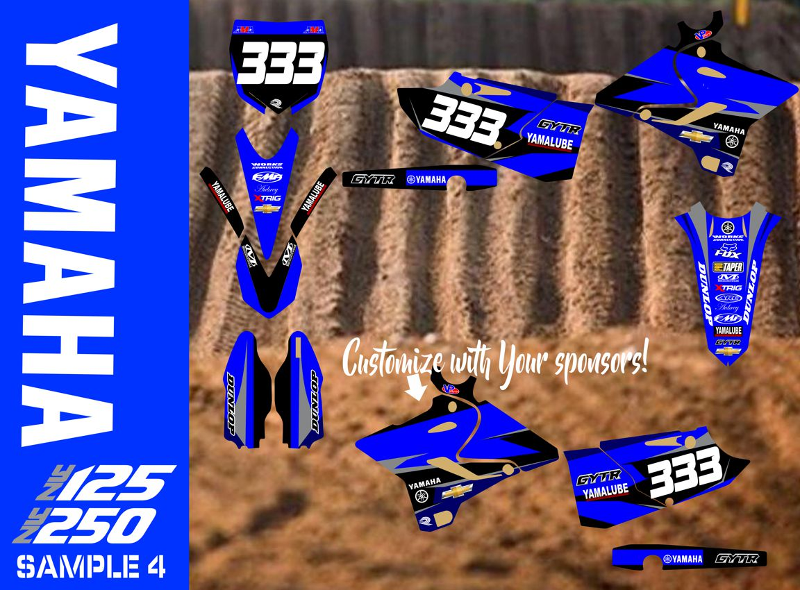 POLISPORT  FRONT NUMBER PLATE YAMAHA YZ125 YZ250 2000 2001 2002 2003 2004 2005