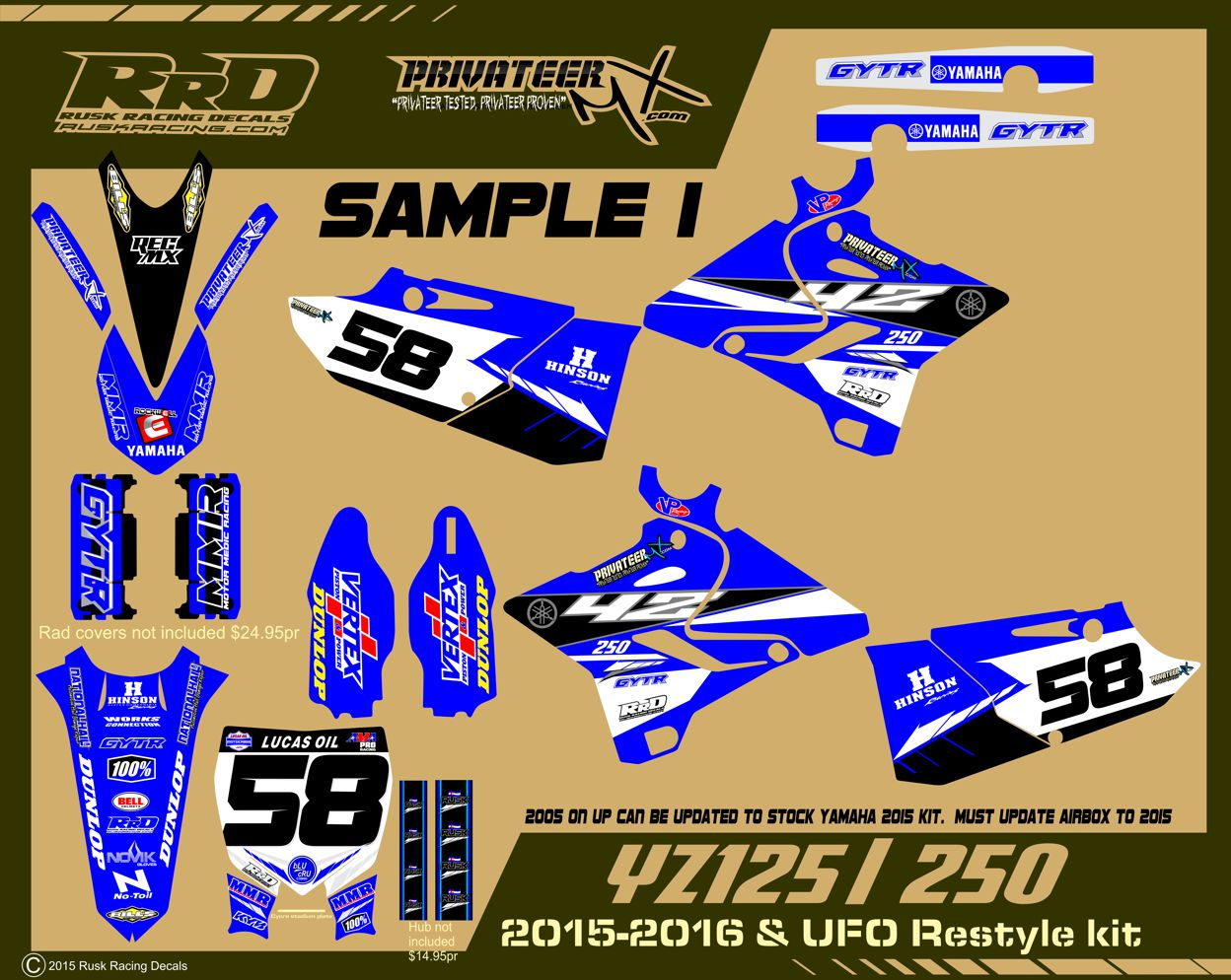 Yamaha bike sticker designs -  Click On Images For Large View
